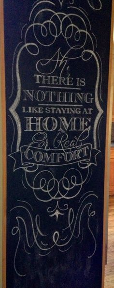 Had this drawn on my kitchen cabinet chalkboard. It's a Jane Austen quote. Chalkboard Writing, Chalkboard Drawings, Chalkboard Lettering, Chalkboard Designs, Chalk Typography, Vintage Typography, Typography Letters, Vintage Logos, Retro Logos