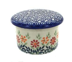Polish Pottery Garden Bouquet French Butter Dish ** Details can be found by clicking on the image.