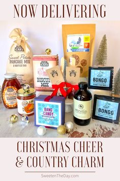 Save 20% on perfect gift that's full of crave-worthy treats from Nashville's iconic restaurants & artisan food shops! Includes Nashville Jam Co's Peach Bourbon Jam, Loveless Cafe's Classic Biscuit Mix, Sweet Potato Pancake & Waffle Mix, Southern Sorghum Molasses, Frothy Monkey's Sweet Vanilla Syrup, Bongo Coffee's Holiday Roast, Bang Candy's Hand-crafted Marshmallows & Hot Chocolate on a Stick & Out of the Blue's Cranberry Coconut Granola.