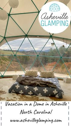 Spend your next vacation in North Carolina camping in a Dome! You can also choose from one of Asheville Glamping's Luxury tent rentals, treehouse rentals, vintage trailer rentals, or yurt rentals… North Carolina Vacations, Camping In North Carolina, Asheville North Carolina, North Carolina Rentals, Camping Glamping, Luxury Camping, Camping Gear, Camping Trailers, Utah Camping