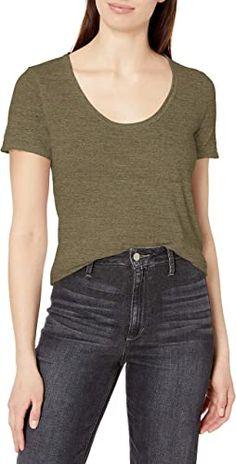 Three Dots Womens Nepps Jersey S//S Short Loose Shirt