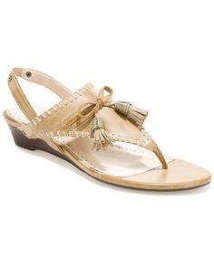 """ADRIENNE VITTADINI """"Valli"""" Leather Thong Sandal"""