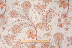 Kravet :: Cottongham Printed Linen Drapery Fabric in Coral $19.95 per yard - Fabric Guru.com: Fabric, Discount Fabric, Upholstery Fabric, Drapery Fabric, Fabric Remnants, wholesale fabric, fabrics, fabricguru, fabricguru.com, Waverly, P. Kaufmann, Schumacher, Robert Allen, Bloomcraft, Laura Ashley, Kravet, Greeff