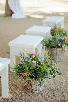 Decoración para una boda al aire libre