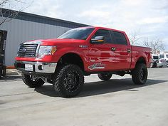 ford f 150 - Red Ford F150 Lifted