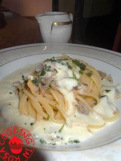 """Spaghetti alle vongole in salsa all'aglio dolce da """"Natale con Cannavacciuolo"""" - Cooking in Rosa"""