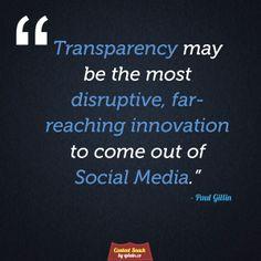 Transparency is Fundamental on #SocialMedia