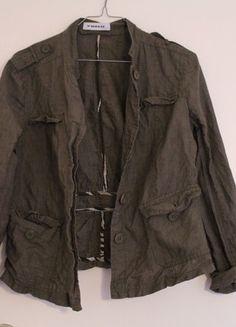 Leinenjacke Public Khaki Zara, Military Jacket, Public, Beige, Jackets, Fashion, Spinning Top, Reach In Closet, Fashion Women