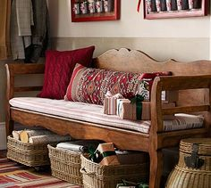 Darby Entryway Bench Cushions #potterybarn