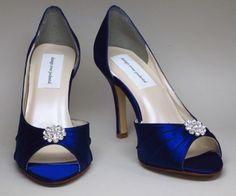 Offizielle Damen Schuhe aus Sateen in Marine Blau