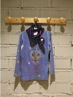 Camiseta CUSTO azul con lentejuelas 4 AÑOS