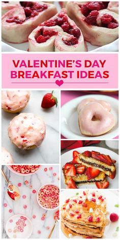 Lots of fun and festive Valentine's Day breakfast ideas! Loving all the pink food!