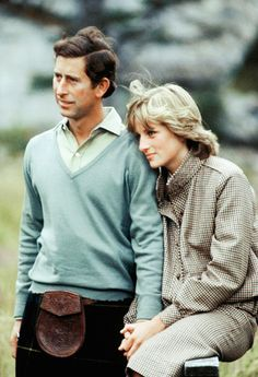 Princess Diana and Prince Charles on their honeymoon at Balmoral. They were so cute, before evil Camilla came into the picture.