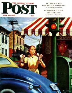 Dripping Cones. Saturday Evening Post, July 29, 1944