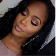 Black Women Makeup Tips For Dark Skin - Copper Eyes & Nude Lip Makeup www. Black Women Makeup Tips For Dark Skin - Copper Eyes & Nude Lip Makeup - Black Hair OMG! Black Opal, Iman, Mac Tutorials & makeup ideas for black women. Maquillage On Fleek, Maquillage Black, Makeup For Black Skin, Makeup For Brown Eyes, Makeup Black Women, Black Bridal Makeup, Black Natural Makeup, Black Opal Makeup, Black Brows