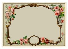 Vintage Clip Art - Pretty French Perfume Label - Frame - The Graphics Fairy