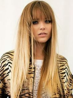 Straight Hairstyles With Bangs Fascinating Party Season Hairoh Yeah Even More Inspo Right Here  Http