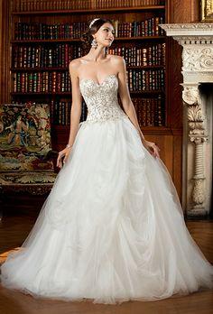 Brides.com: . Wedding dress by Kitty Chen