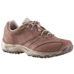 a50b4c49ba Zapatillas de marcha deportiva para mujer Nakuru Impermeables piel marrón  beige
