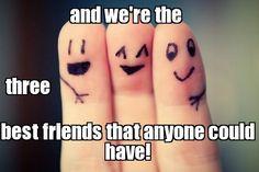 3 BEST FRIENDS Meme | Slapcaption.com