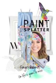 """""""Make a Splash With Paint Splatters"""" by kari-c ❤ liked on Polyvore featuring Rialto Jean Project, Sandy Liang, Converse, Balenciaga, cutekawaii and paintsplatter"""