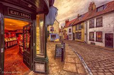 """""""Jeweller's on the corner""""..Bottom of the Abbey steps in Whitby, North Yorkshire..Photo by Stephen Candler.."""