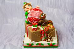 torta Natalizia in pasta di zucchero