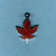 Vintage Enamel Sterling Silver Winter Olympics Team Canada Red Maple Leaf Charm