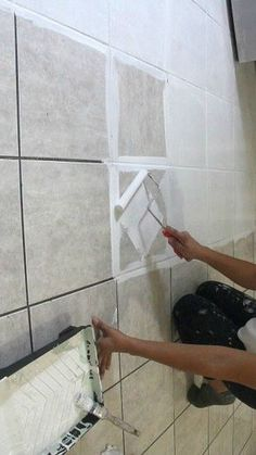 This is what EVERYONE has been asking about (and raving about!) The Secret is Out! How to Stencil a Tile Floor