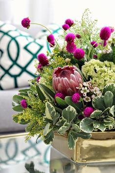 late summer floral arrangement with Mint Love Social Club