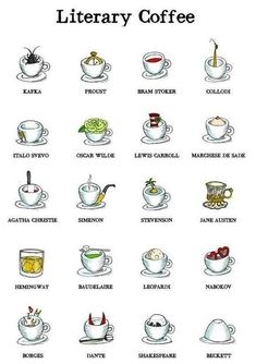 Literary Coffee -- image via https://bauldeloslibrosasombrosos.com