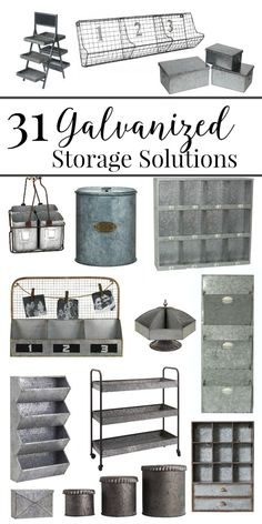 you looking for galvanized storage solutions? Well, look no further! Here are 31 amazing options at every price point.Are you looking for galvanized storage solutions? Well, look no further! Here are 31 amazing options at every price point. Teenage Room Decor, Galvanized Decor, Galvanized Metal, Organizing Hacks, Home Organization, Storage Organizers, Home Decor Accessories, Decorative Accessories, Country Decor