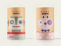 Дизайн упаковки детских духов Zara