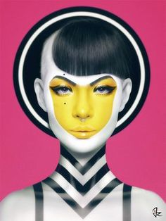 Italian artist, Giulio Rossi, creates breathtaking digital portraits that are sexy, creative & fun. Portrait Studio, Photoshop, Maquillage Halloween, Digital Portrait, Digital Art, Foto Art, Art Abstrait, Italian Artist, Fantasy Makeup
