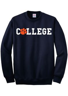 Are you a Clemson Tigers Student Living the Animal House Lifestyle at College? We've got the Fall Sweatshirt for you. Wear it around Campus or wear it on Saturday Game Days.
