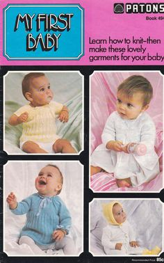 Patons My First Baby Knitting Pattern for Baby by jennylouvintage