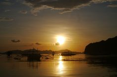 """:)"" by TravelPod blogger marco-2010 from the entry ""El Nido!"" on Wednesday, May 18, 2016 in El Nido, Philippines Les Philippines, Blog Entry, Wednesday, Celestial, Sunset, Travel, Outdoor, Outdoors, Viajes"