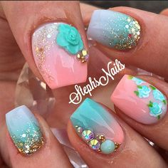 Super cute spring nails!