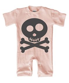 Loving this Light Pink Skull & Crossbones Playsuit - Infant on #zulily! #zulilyfinds