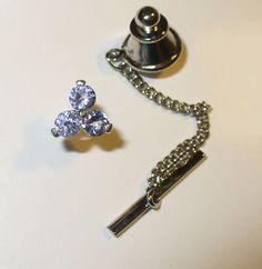 Genuine Tanzanite Tie Tack or Lapel Pin in Sterling by barkrock