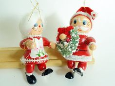 Claus Couple Vintage Santa Claus and Mrs. Claus by HolyCityVintage