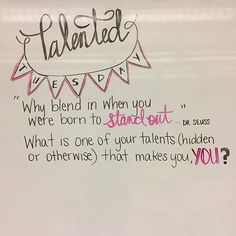 What are some of your talents? #miss5thswhiteboard #teachersofinstagram #teachersfollowteachers #iteachtoo #iteach7th