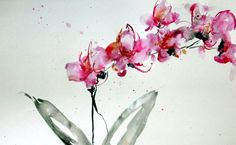 Orchids 2 by KarinJohannessonART on Etsy, $300.00