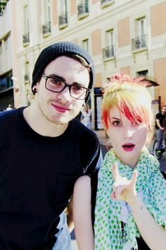 Paramore - hayley williams and taylor york via tumblr