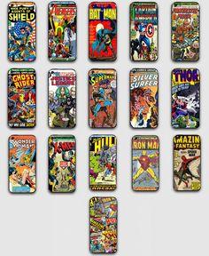 PHONE CASE IPHONE 4/4S 5 5C 5S GALAXY S3 S4 SPIDERMAN BATMAN MARVEL DC COMICS