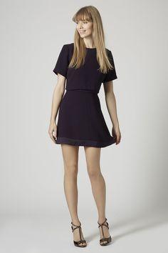 Satin Back Overlay Dress