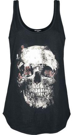 Vanishing Skull Vest Top by Rockupy ~ EMP
