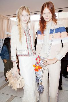 Backstage at Tory Burch Spring 2013. Photo courtesy of @ELLE Magazine (US)
