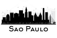 #Sao #Paulo #City #Skyline #Silhouette by Igor Sorokin on @creativemarket
