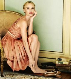 kate bosworth. mint, blush, and gold.